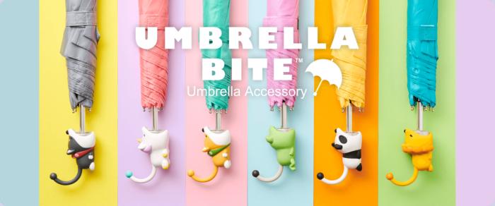 「Umbrella Bite」可愛動物咬咬傘柄套