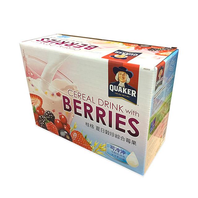 綜合莓果口味精選莓類。冷喝、溫喝、熱喝,皆可以。冷熱沖泡配方雙重封存技術。加入冰鮮奶更好喝。即沖即食超方便。