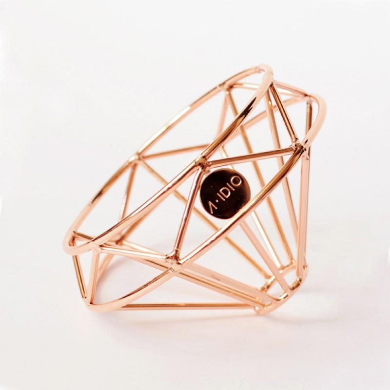 【A-IDIO】鑽石咖啡濾杯 -玫瑰金/曜石黑《AIDIO人文咖啡》