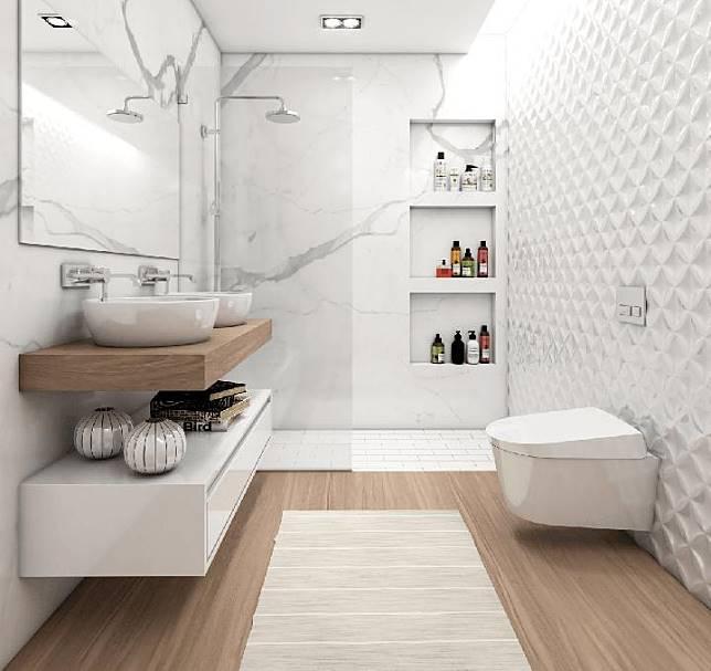 Kamar mandi minimalis mewah House At Martadinata oleh Interval (Sumber: arsitag.com)