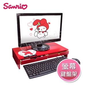 可放置電腦螢幕、液晶顯示器或筆電 雙抽屜空間設計,隨心放置物品 正版三麗鷗授權超人氣經典美樂蒂