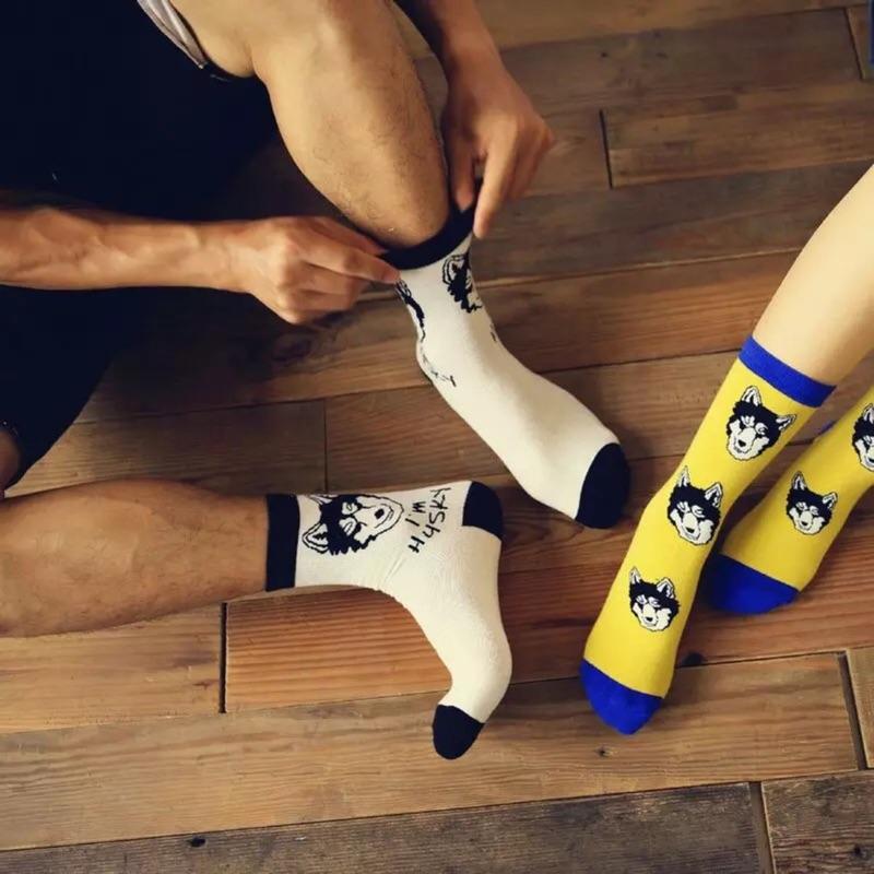 帥氣的哈士奇,男女皆可穿喔 材質:優質棉料/彈性纖維 ➧FB粉絲團及IG請搜尋:阿華有事嗎 ➧有任何問題歡迎使用聊聊詢問哦! #襪子#哈士奇#狗狗#中筒襪#條紋#韓國襪子#日本#可愛#動物#阿華有事嗎