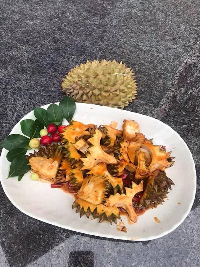 Tumis saos sambal kulit durian (Facebook)
