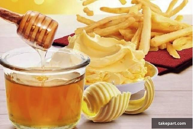 kentang goreng dan madu
