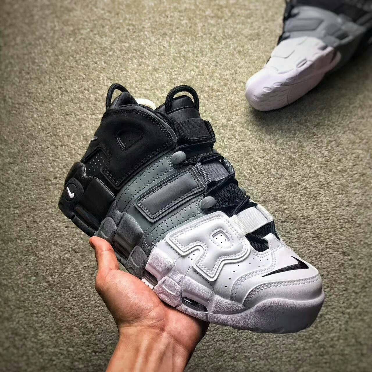 Nike Air More Uptempo Pippen 大AIR黑灰漸變籃球鞋 男款