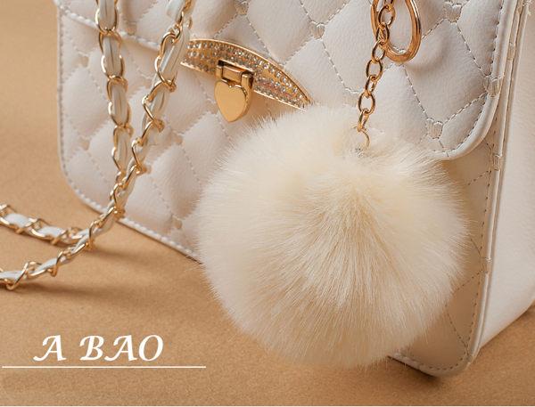 韓國手工甜美珍珠澎澎毛球包吊飾 19色 現貨 毛球吊飾 兔毛質感 流行配件 1071