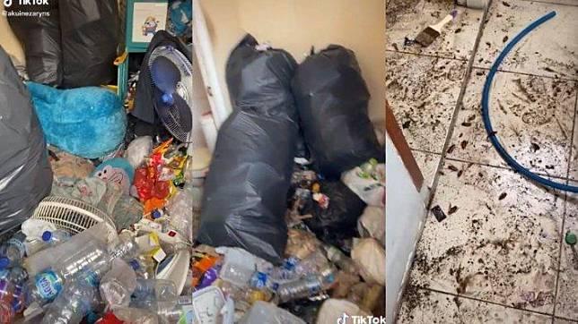 Viral video sebuah kamar kos yang berisi tumpukan sampah viral di TikTok, pertama kali ditemukan oleh ibu pemilik kos, berikut ceritanya.