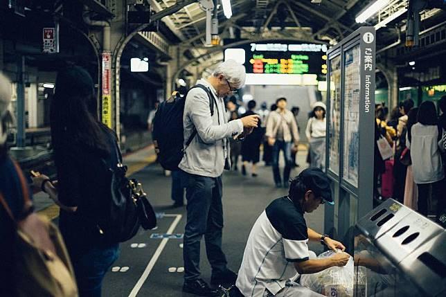 Train Station Crowd Japan