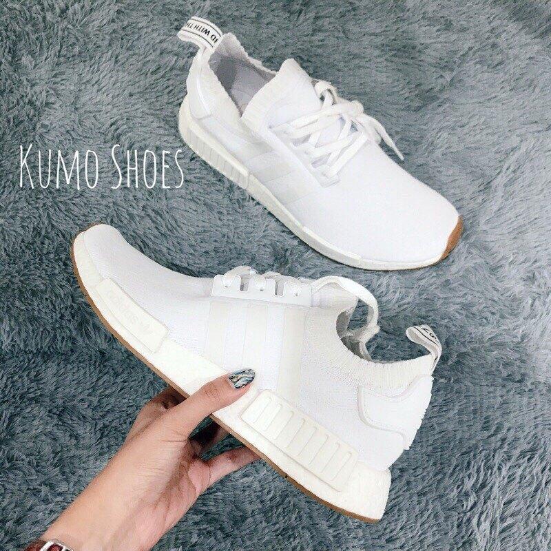 Kumo shoes ADIDAS NMD R1 PK PRIMEKNIT 膠底 白 焦糖底 BY1888