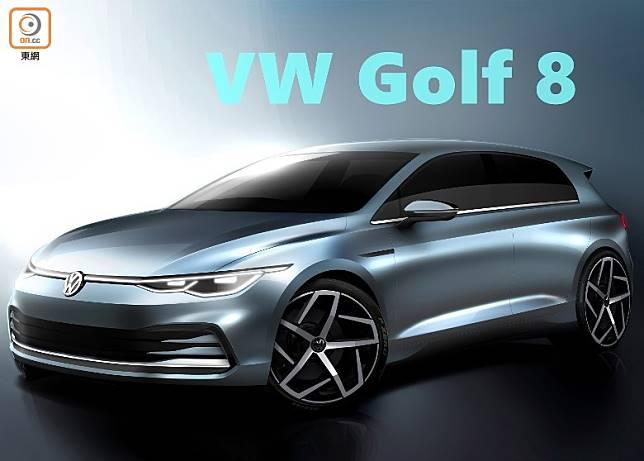 Volkwagen全新8代Golf將於10月24日在德國 Wolfsburg正式發表。(互聯網)