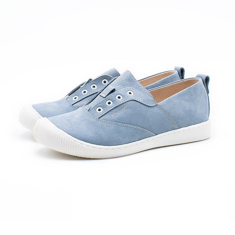 *此款鞋款無鞋帶設計 鞋面全真皮 鬆緊直套設計