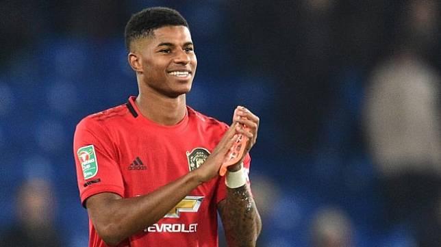 Penyerang Manchester United, Marcus Rashford. [Glyn KIRK / AFP]