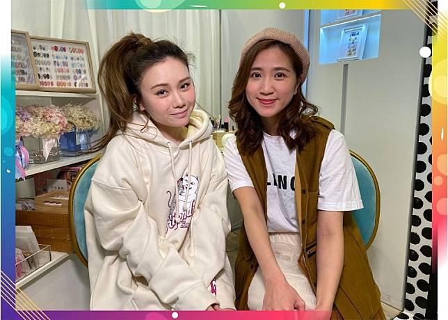 譚杏藍(左)提高員工底薪等佢哋生活有保證。