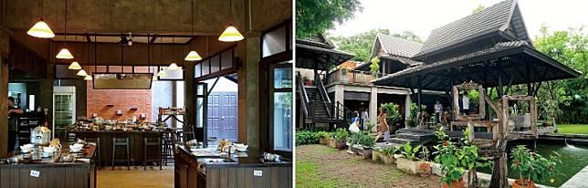 在傳統泰式木建房屋內學習烹調泰菜,感覺特別地道。(單身旅子攝)