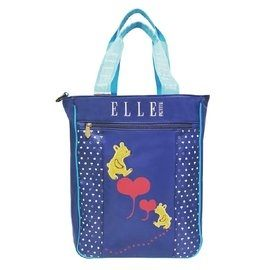 BACKBAGER 背包族 開學用品 ELLE 可愛熊熊系列 上課 防水/手提袋/補習袋/背包/購物袋 P6154020 藍色