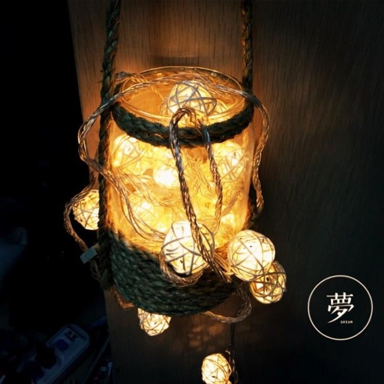 【快速出貨】霓虹燈 彩燈閃燈串燈滿天星泰國藤球燈浪漫臥室裝飾燈霓虹燈房間布置小燈 七色堇