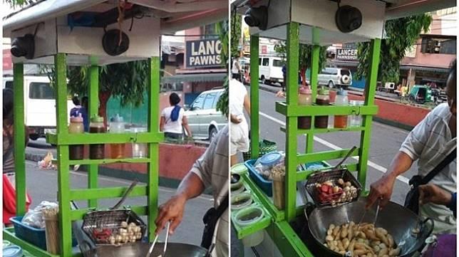 Penjual gorengan gerobak. (Facebook/ GMA News)