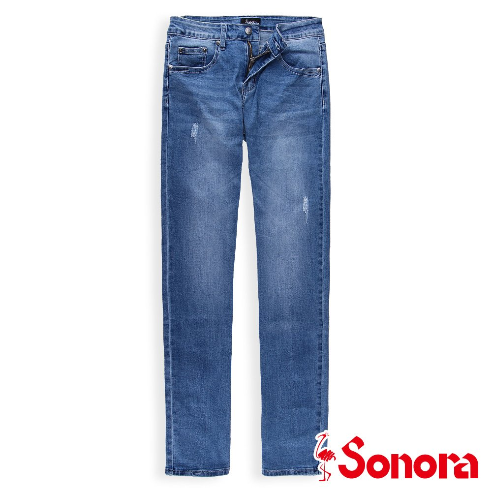 【SONORA 尚諾奈】中腰直筒丹寧褲 - 女裝(淺藍)