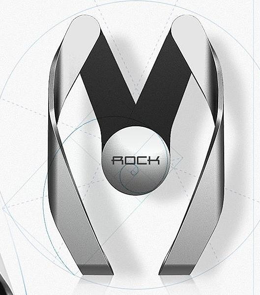 ROCK車載手機支架汽車用導航車上支撐出風口卡扣式通用