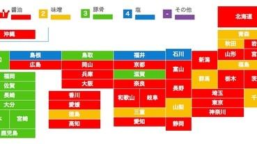 日本各地的人愛吃哪種拉麵?