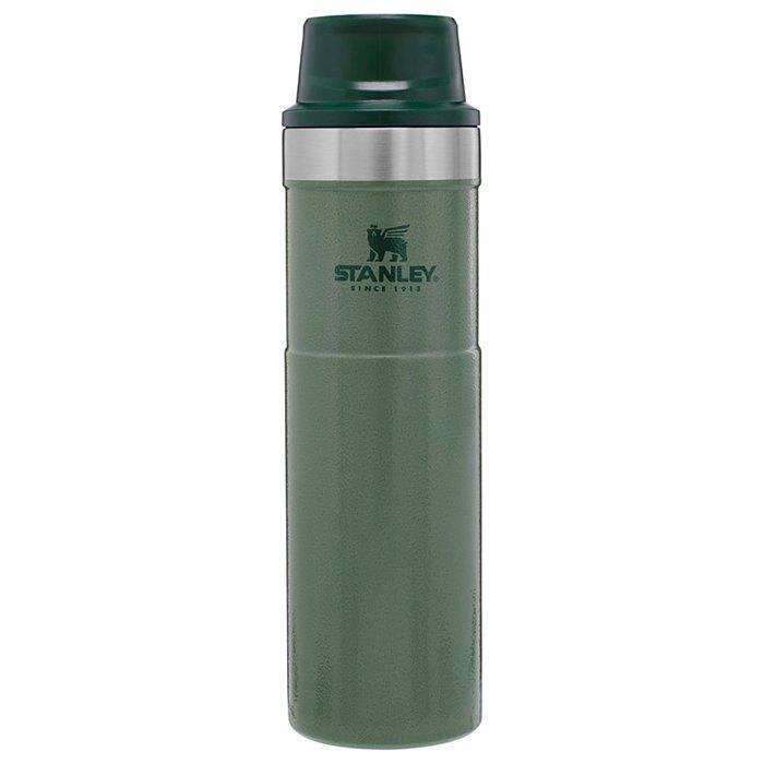 【Stanley 美國】TA 經典單手保溫咖啡杯 304不鏽鋼保溫杯 錘紋綠 (10-06441) 【591ml】