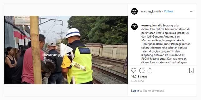 Tangkapan layar dari akun @warung_jurnalis