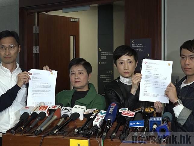 民主派390名現任及侯任區議員發出公開信,要求抽起警隊加薪,分拆審議,表達對警暴的不滿。