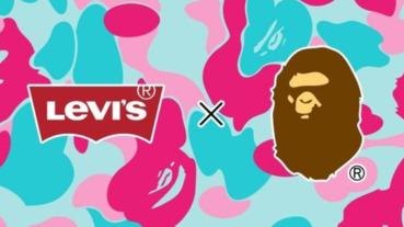 限定猿人迷彩太誘人!BAPE 攜手老相好 Levi's 最新聯名曝光,網友:「我找到去邁阿密的理由!」