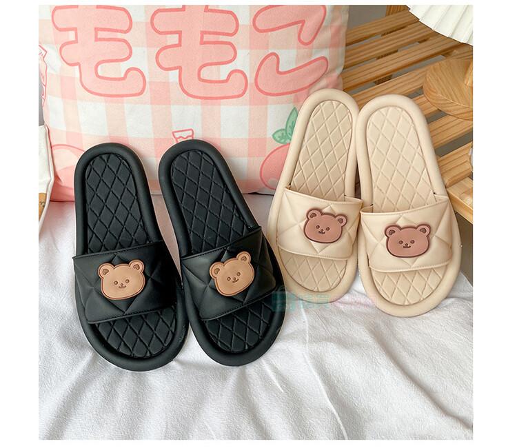 小熊情侶防滑拖鞋