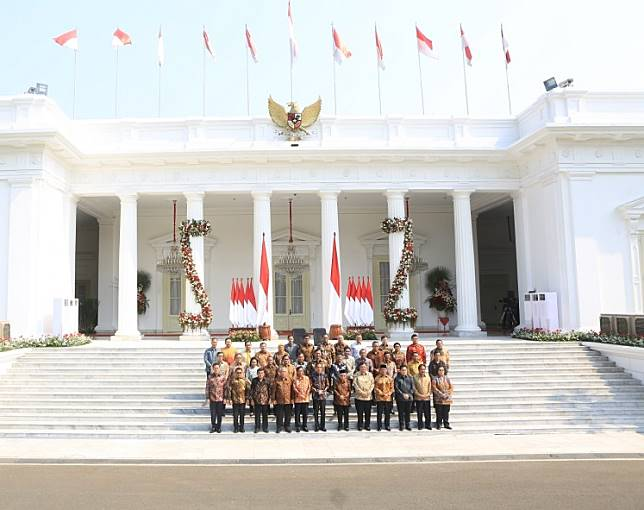 Indonesia Onward Cabinet after the announcement on Wednesday.