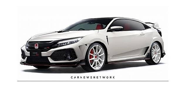 Render Honda Civic Type R 2 pintu. Sumber: creative311.com