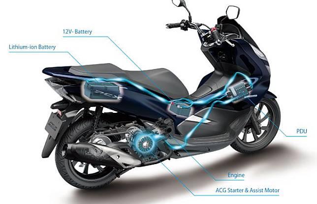 Honda PCX Hybrid gabungkan mesin bahan bakar dengan assist dari baterai