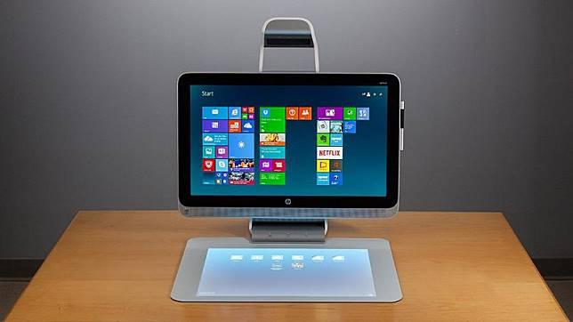 23吋Sprout by HP桌面電腦,雖然規格唔算最新,優惠價1千元有找,相當吸引。(攤位:E35)(互聯網)