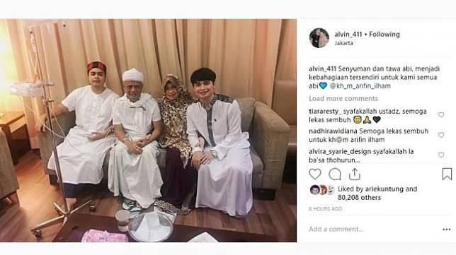 Ustaz Arifin Ilham jatuh sakit. [instagram/alvin_411]