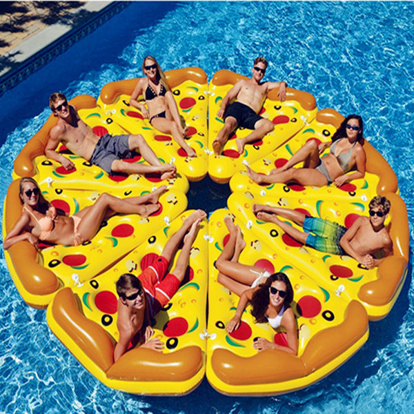 水上充氣浮床加厚披薩浮排泳池戲水玩具男女獨角獸坐騎成人游泳圈 ℒ酷星球