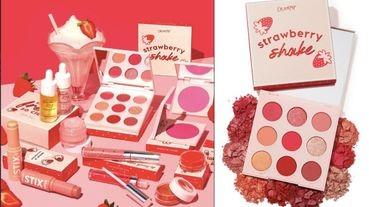 colourpop x「草莓奶昔」粉嫩系列超萌上市!零廢色9色莓果眼影盤,彩妝控必收!