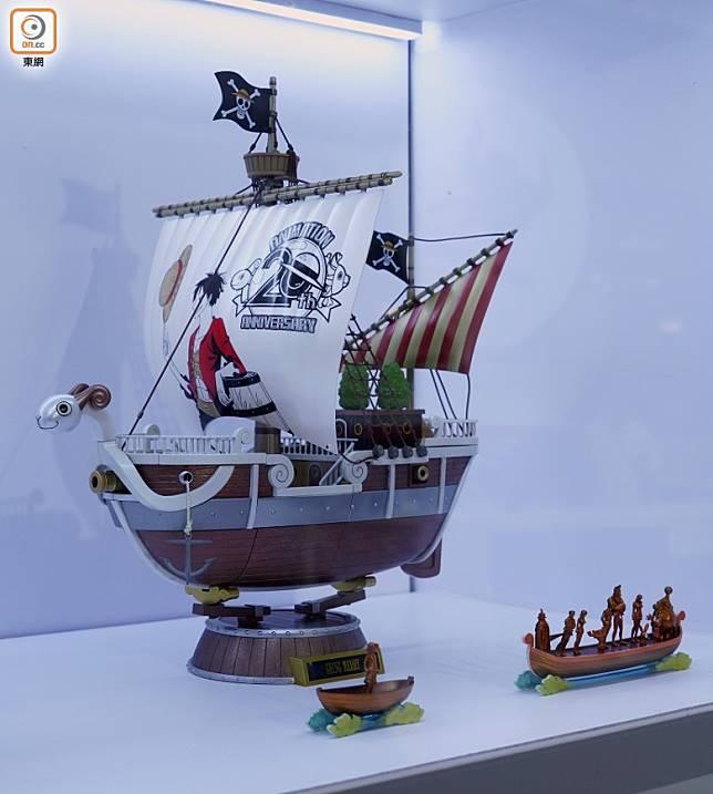 新塗裝的《ONE PIECE》海賊船GOING MERRY合金,《ONE PIECE》迷必買。(方偉堅攝)