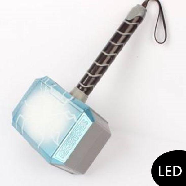 雷神索爾專屬神力之錘n精緻邊框與皮革吊環n還有LED聲光效果哦~