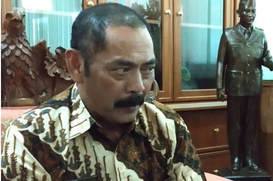 Ketua DPC PDI-P Surakarta yang juga Wali Kota Surakarta FX Hadi Rudyatmo.(KOMPAS.com/LABIB ZAMANI)  Artikel ini telah tayang di Kompas.com dengan judul