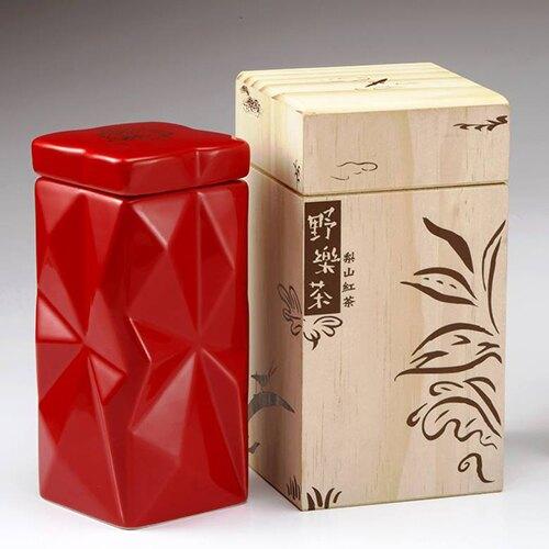 【野樂茶】鶯歌燒罐裝高山紅茶 - 梨山紅茶(紅色鶯歌燒),30公克/罐(2公克)