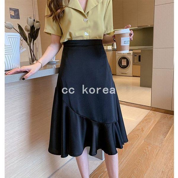 高腰氣質荷葉裙 CC KOREA ~ Q23099