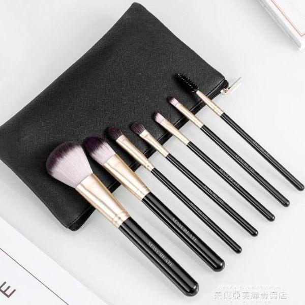 化妝刷大理石化妝刷套裝初學者眼影刷唇刷腮紅散粉刷子化妝工具彩妝全套 萊俐亞