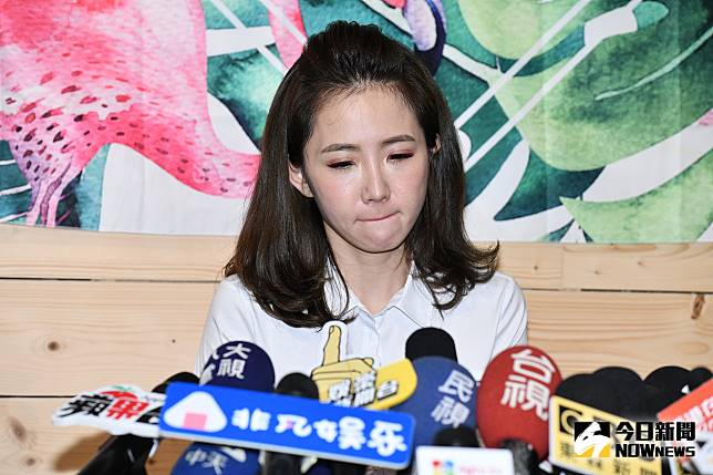 偷吃風波後謝忻首次露面道歉。(圖/記者林柏年攝2019.08.21)