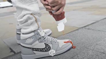 當番茄醬淋於 Dior x Air Jordan 1 High OG 鞋款上!