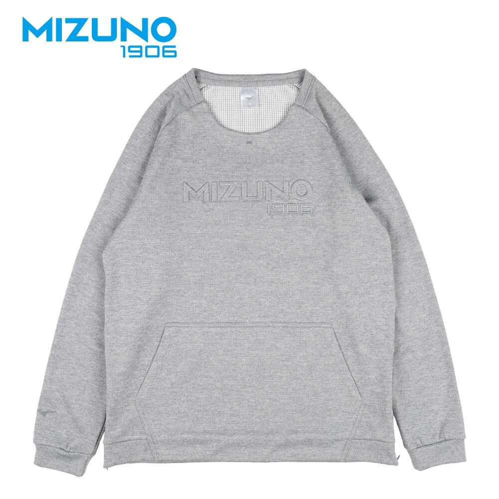 MIZUNO 男裝 上衣 長袖 休閒 圓領 復古 1906 T恤 灰【運動世界】D2TA850303