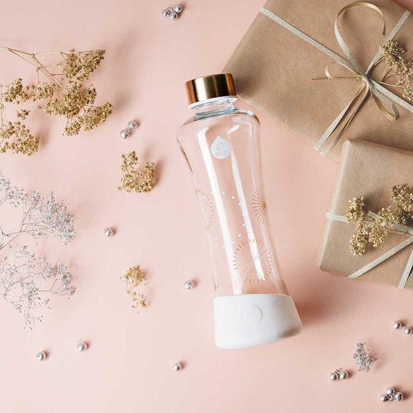 EQUA 星塵-耐熱曲線玻璃瓶550ml(永恆) 水瓶 水壺 水杯 運動 隨身杯 防漏抗冷耐熱 歐洲製造 好生活