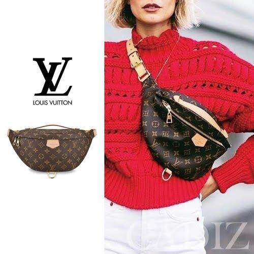 法國正品 Louis Vuitton Bumbag Monogram 經典帆布斜肩腰包 M43644