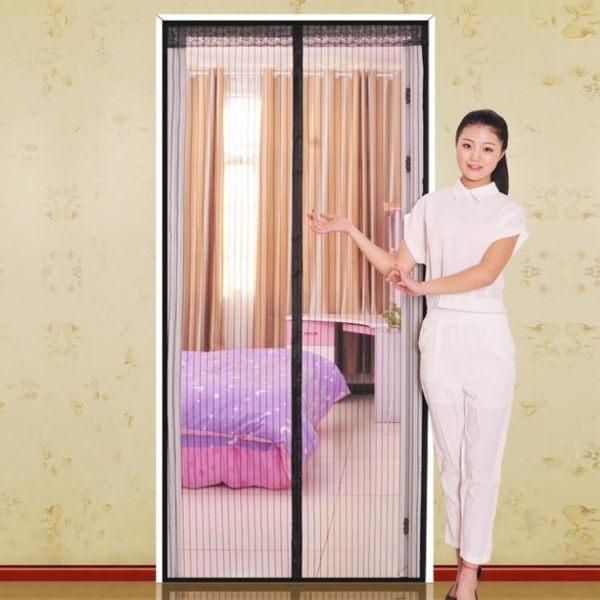 門簾 魔術貼防蚊門簾 磁性紗門夏季紗窗簾軟沙門加密家用臥室隔斷簾子