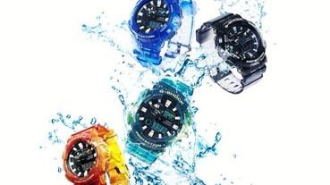CASIO G-SHOCK & BABY-G迎夏新設計 漸層透色視覺沁涼 G-SHOCK G-LIDE潮汐資訊、溫度感測機能 世界頂級衝浪選手心中首選