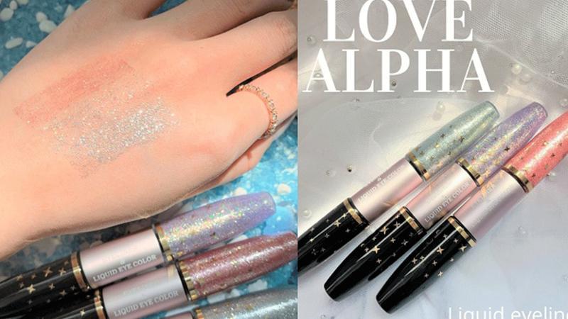臥蠶妝必備Love Alpha~幻境流星雙色閃耀眼線液筆